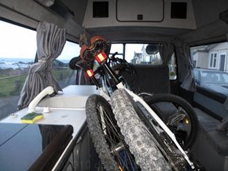 Bikes in van