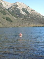 Swimming in Lake Pearson