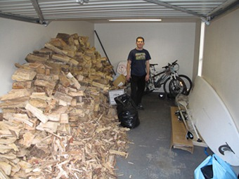 Garage full of wood